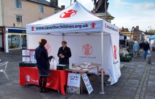 Save The Children gazebo