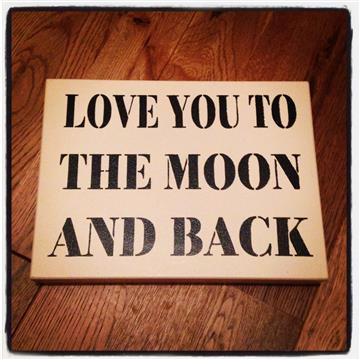 Moon & Back sign