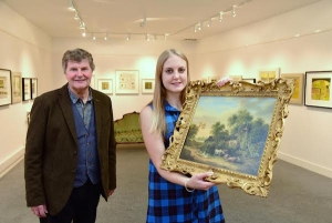 Manager Rachel Allen with her father John at Mandell's gallery – founded 50 years ago by her grandfather Geoffrey: Picture Credit Newsmakers