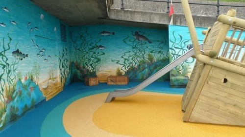 Cromer sea-life mural completed