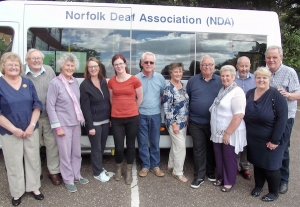 NDA volunteers in front of the mobile clinic minibus