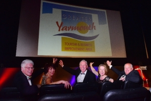 Group photo, left to right Alan Carr Chief Executive, Karen Youngs, Project Manager, Cllr Barry Coleman Vice-Chairman, Kirsty Burn Marketing Manager, David Marsh interim Chairman, Greater Yarmouth Tourism & Business Improvement Area.