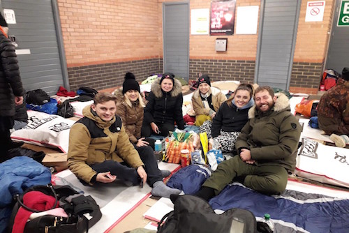 benjamin sleep out 500