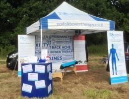Norfolk Bowen Therapy gazebo