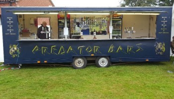 Outside trailer bar to serve up to 500 guests