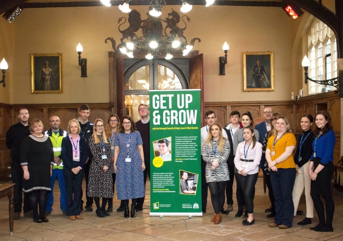 Council apprentices 'get up and grow' this February