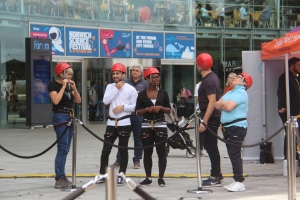 Abseil down the Forum raises over £10,000 for EACH