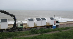 Excitement builds in Gorleston as first new beach huts arrive on seafront