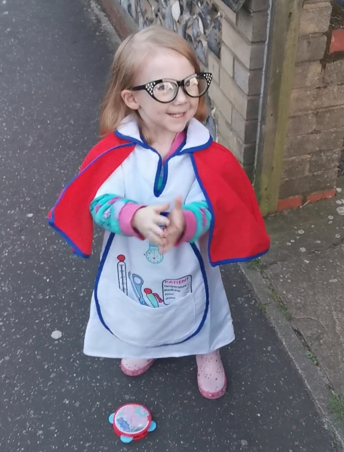 Two-year-old Harper becomes her heroes for EACH
