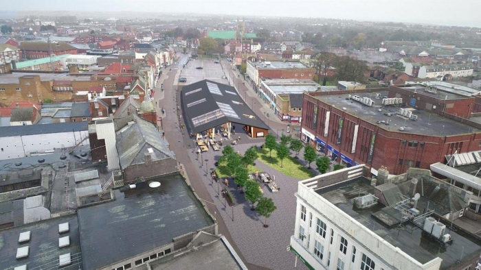 Updated designs revealed for Market Place in Great Yarmouth.