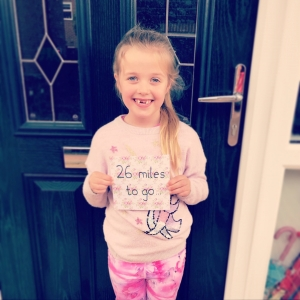 Seven-year-old Jess's marathon May for EACH