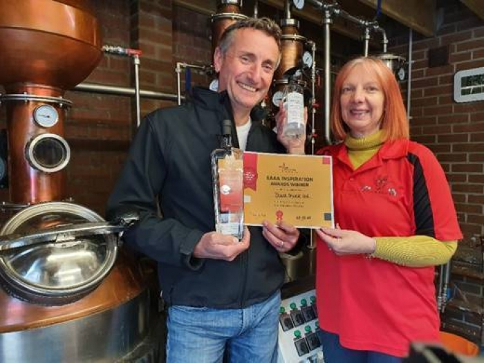 Patrick and Sarah Saunders of Black Shuck Gin : Image Courtesy of EAAA